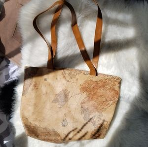 Vintage world map tote